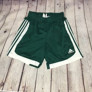 ADIDAS Climalite green athletic shorts